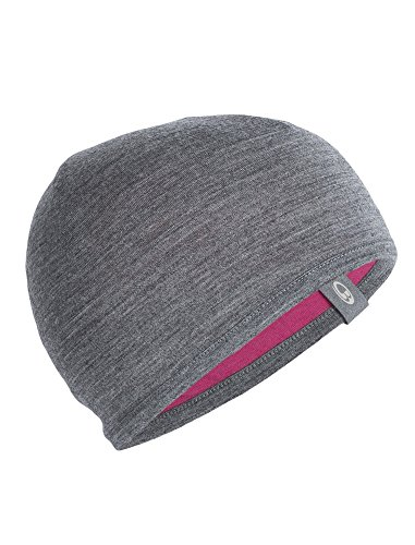 Patagonia Lightweight Ski Hat (Icebreaker Merino Kids Pocket Hat, Pop Pink/Gritstone Heather, Large)