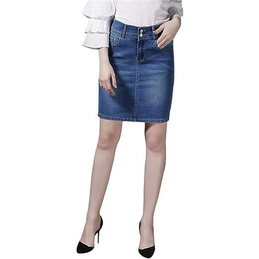 ERLIZHINIAN Tamaño for Mujer Short Denim Faldas for Las Mujeres ...