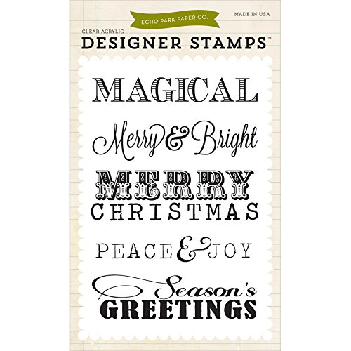 Echo Park Paper Company Christmas Sentiments Stamp (Christmas Acrylic Stamp Set)