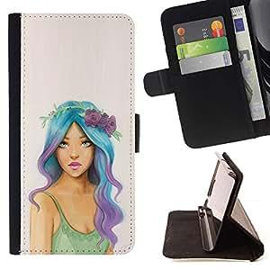 Momo Phone Case / Flip Funda de Cuero Case Cover - Hippie gratuito Fashion Girl Mujer - LG Nexus 5 D820 D821