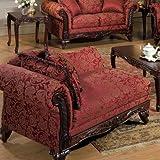franklin chaise lounge fabric momentum magenta safari sateena