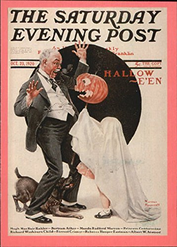 1993 Norman Rockwell Saturday Evening Post #34 Halloween - (Saturday Evening Post Halloween)