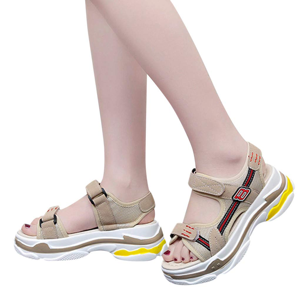 Women Summer Classic Athletic Sandals Wide Width Shoes Ladies Fashion Outdoor Hook/&Loop Sandals