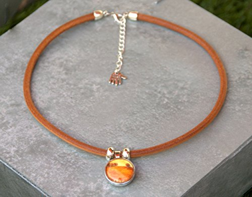 hazelnut-brown-genuine-leather-snap-pendant-snap-jewelry-noosa-style-ginger-snap-jewelry-choker-snap