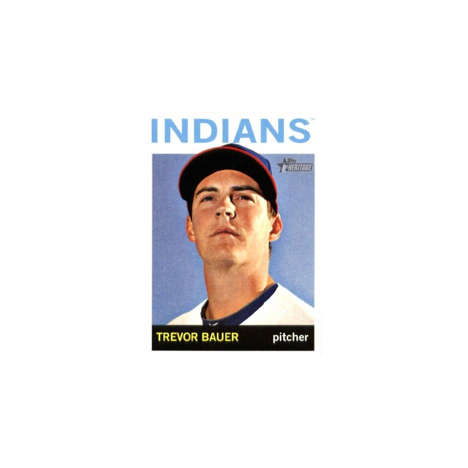 2013 Topps Heritage Baseball Card IN SCREWDOWN CASE #321 Trevor Bauer ENCASED