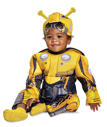Disguise Bumblebee Infant Muscle Child Costume, Yellow, (12-18