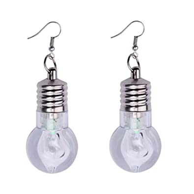 Earrings, Bestow Elegant Jewelry Women 1Pair Light Up Earring LED Blinking  Bulb Ear Hook Dangle Jewelry (A): Amazon.co.uk: Jewellery