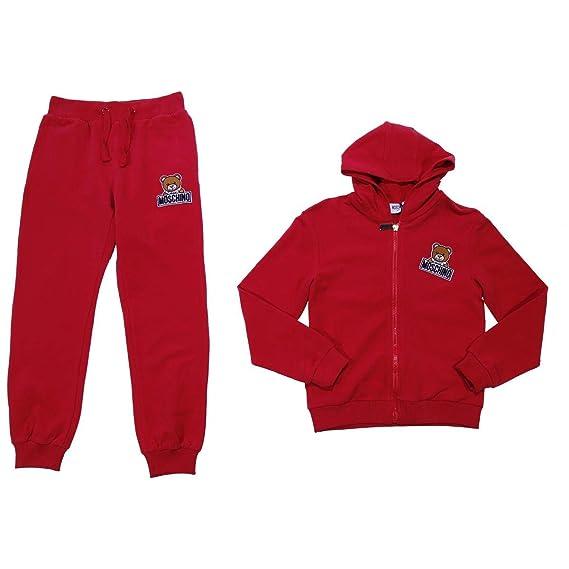 ea96dd7b0 Moschino Teen Boy Red Hooded Tracksuit Mod. HUK01ELDA0350109T 14A:  Amazon.co.uk: Clothing