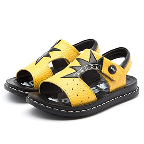 (Shoes Kids Easy SNAP Lock Closure Fashion Casual Outdoor/Water Sandal-(Yellow 30/12 M US Little Kid))