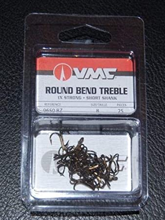 VMC Round Bend Treble High Carbon Steel Hooks Size 7-9650 TR for sale online