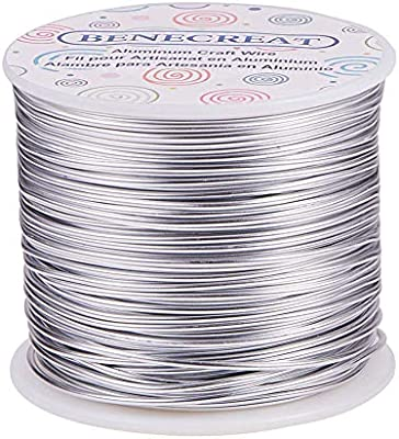 Black 30 Feet 15 Gauge Colored Round Aluminum Jewelry Wrapping Craft Wire 1.5mm Thick
