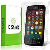 ZTE Speed Screen Protector, IQ Shield LiQuidSkin Full Body Skin + Full Coverage Screen Protector for ZTE Speed (Boost Mobile) HD Clear Anti-Bubble Film - with