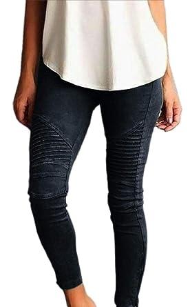 CYJ-shiba - Pantalones de chándal Plisados de Cintura Alta para ...