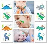 Hugo & Emmy Dinosaur Temporary Tattoos for Kids – Party Favors for Goodie Bags for Birthdays, Parties and Events – 12 Sheets (24 Tattoos)