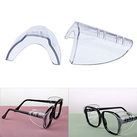 1 par de protectores laterales de seguridad flexibles universales para gafas de seguridad