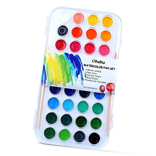Ohuhu Fundamentals Watercolor Assorted Paintbrushes