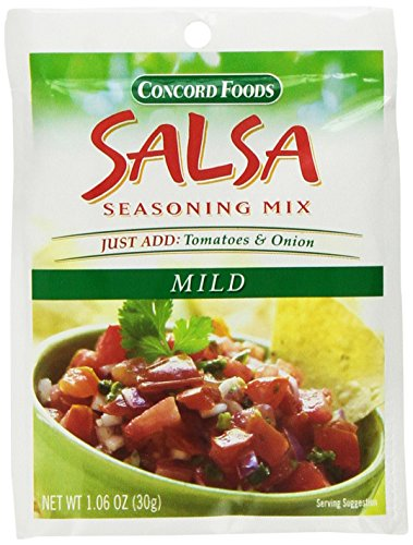 Concord Foods, Salsa Mix, Mild, 1.06oz Packet (Pack of 6) (Food Packets)