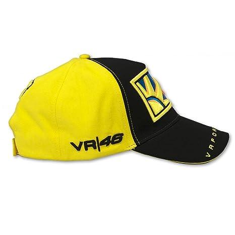 Oficial Valentino Rossi sol   Luna 46 gorra VR 46 46  Amazon.es  Deportes y  aire libre 43e7300a735