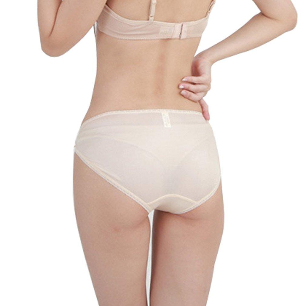 11b642edb89d HOEREV Women's Pure Natural Mulberry Silk Underwear Comfort Panties:  Amazon.co.uk: Clothing