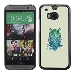 All Phone Most Case / Oferta Especial Duro Teléfono Inteligente PC Cáscara Funda Cubierta de proteccion Caso / Hard Case HTC One M8 // Pattern Owl Tribal
