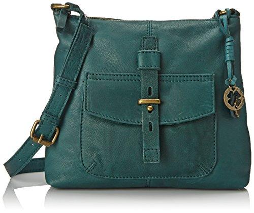 Lucky Brand Medine Top Zip X Cross Body Bag Deep Sea One Size