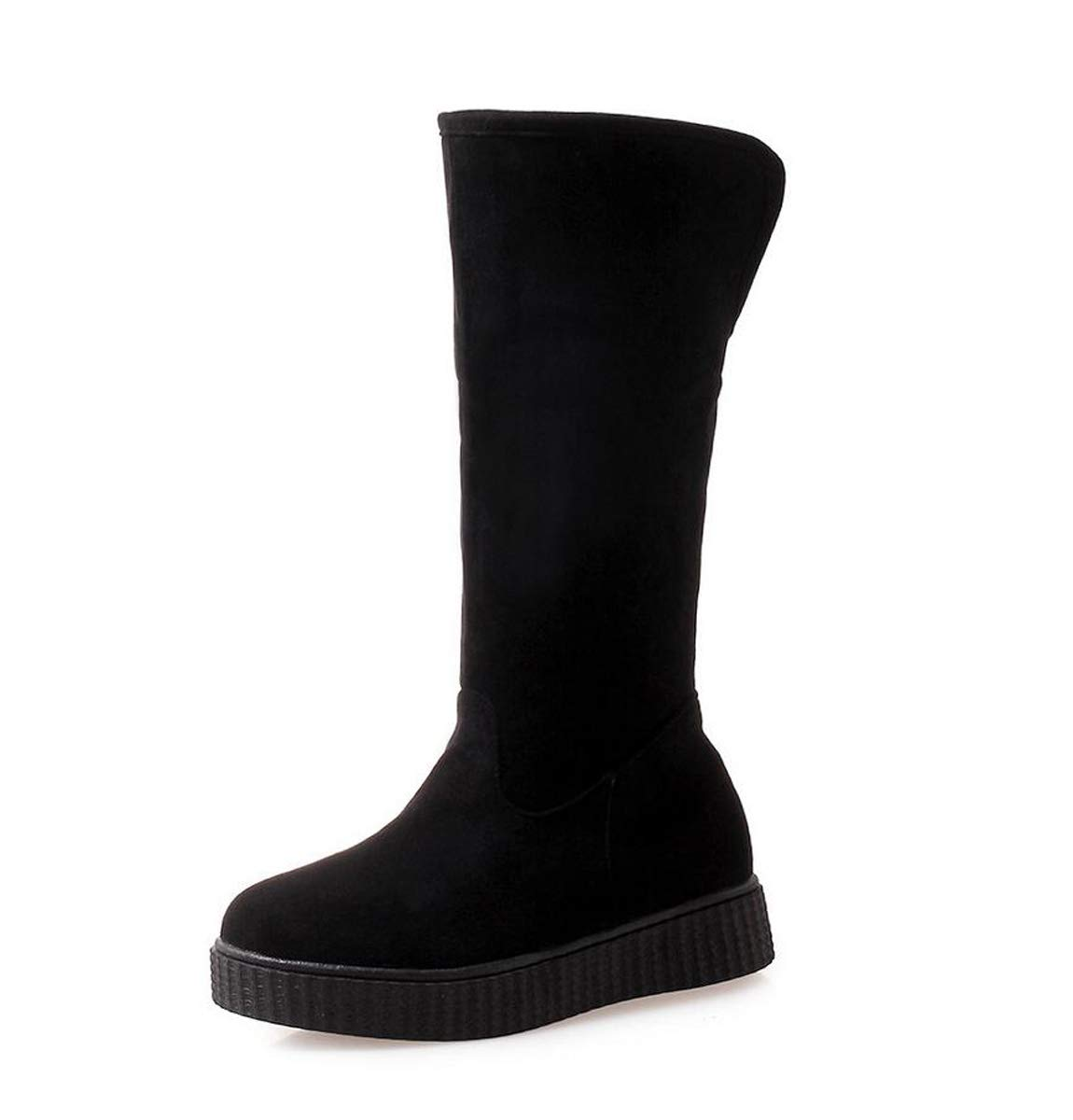 DANDANJIE Snow Boots for Women 2018 Newest Ladies Warm Flat Heel Boots Round-Toe Slip-On Boots for Girls