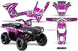 AMRRACING Polaris Sportsman 90 2006-2016 Full Custom ATV Graphics Decal Kit - Deaden Pink