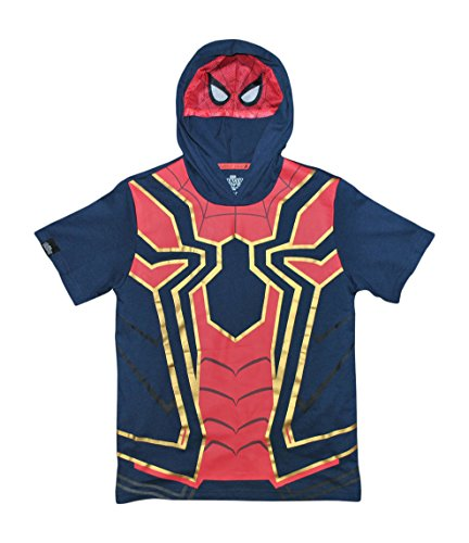 Marvel Spiderman Avengers Infinity War Boys Girls Iron Spider Costume Hoodie Shirt (XXS (4/5))