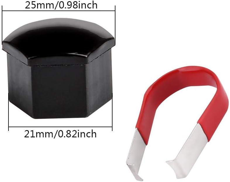 Cache-/écrous 20pcs Cache-/écrous de Roue Noir Gobesty Kit de Cache-Roue Aero mod/èle 3 Tesla