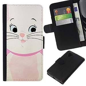 A-type (Kitten Cat Drawing Kids Children'S) Colorida Impresión Funda Cuero Monedero Caja Bolsa Cubierta Caja Piel Card Slots Para LG Nexus 5 D820 D821