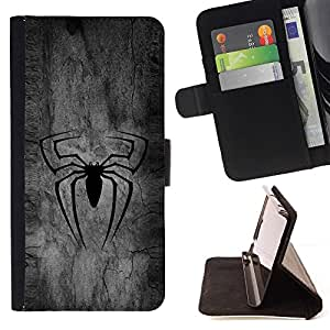 - BLACK SPIDER SUPERHERO/ Personalized Design Custom Style PU Leather Case Wallet Flip Stand - Cao - For LG Volt 2 / LG G4 Mini (G4c)