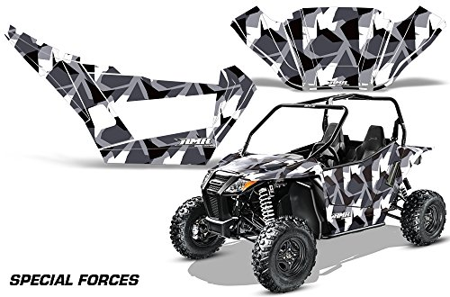 AMRRACING Arctic Cat Wildcat Sport XT Full Custom UTV Graphics Decal Kit Special Forces Silver by AMR Racing (Image #1)