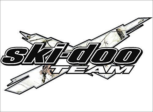 SKI-DOO Team 3DX / CAMO WHITE / Vinyl Vehicle Decal Snowmobile Winter Sports Graphic Sticker (6X12