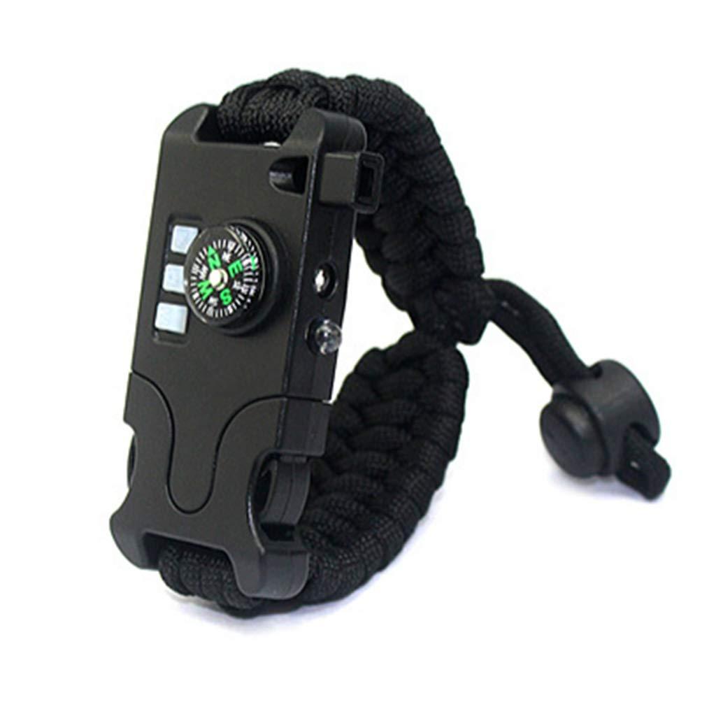 AosyGFR Compas Tissé Rechargeable De Lampe-Torche De Bracelet Tissé Rechargeable De Bracelet De Survie Infrarouge De Laser pour Le Bracelet D'aide