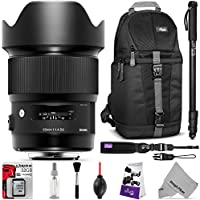 Sigma 20mm f/1.4 DG HSM Art Lens for Nikon F DSLR Cameras with Essential Photo and Travel Bundle