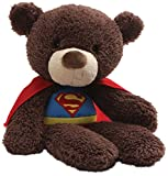 GUND DC Comics Universe Fuzzy Bear Superman Plush, 14', Brown
