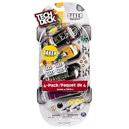 (Tech Deck - 96mm Fingerboards - 4-Pack - Baker)