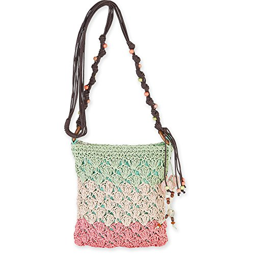 Mint Sand Sun Bag Crossbody Conchi N' Natural Crochet Mini Straw 5945 qCCv58xw