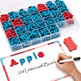 JoyNote Gamenote Classroom Magnetic Letters Kit 208 Pcs with Double-Side Magnet Board - Foam Alphabet Letters for Kids Spelling and Learning