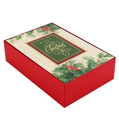 Hallmark Christmas Boxed Cards (Holiday Holly, 40 Christmas Greeting Cards and 40 Envelopes)