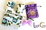 Luna Cup Period Starter Kit 6pcs Set- 1 Small 1 Large Menstrual Cup 1 small Pouch 2 Cloth Pads for Women 1 Wet Bag