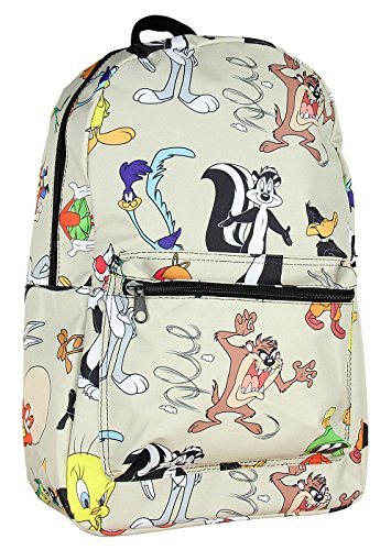 Warner Bros Looney Tunes Character All Over Print Backpack