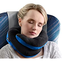 BCOZZY Chin Supporting Travel Pillow – Complete 360° Support for Head, Neck, and Chin –Achieve Maximum Comfort in Any Sitting Position with Patented Neck Pillow – Adult Size (BLACK)