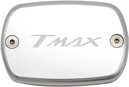 Tmax 530 Tmax 500 Fluido de Freno Delantero Dep/ósito de Combustible tanque Front Brake Reservoir Fluid Cap par Yamaha Tmax530 XP530 2012 2013 2014 2015 2016 Tmax500 2008 2009 2010 2011 Plata