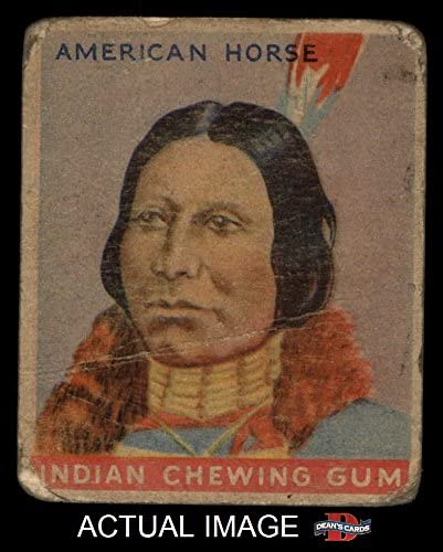 1933 Goudey Indian Gum # 43 American Horse (Card) Dean's Cards 2 - GOOD 515LPwGBMaL