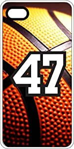 Basketball Sports Fan Player Number 45 Clear Rubber Decorative iphone 6 4.7 Case