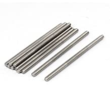 uxcell® M4 x 80mm 304 Stainless Steel Fully Threaded Rod Bar Studs Hardware 10 Pcs