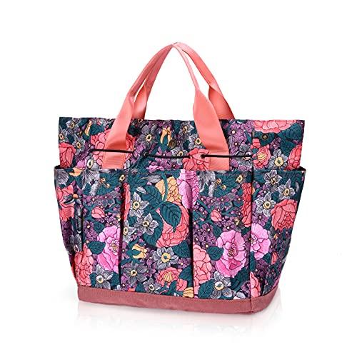 WOCHOLL Garden Tool Bag Heavy Duty Canvas Garden Bag Home Organizer for Indoor and Outdoor Gardening, Garden Tool Kit…