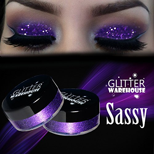 Sassy GlitterWarehouse Purple Loose Glitter Powder Great for Eyeshadow / Eye Shadow, Makeup, Body Tattoo, Nail Art and More! by GlitterWarehouse
