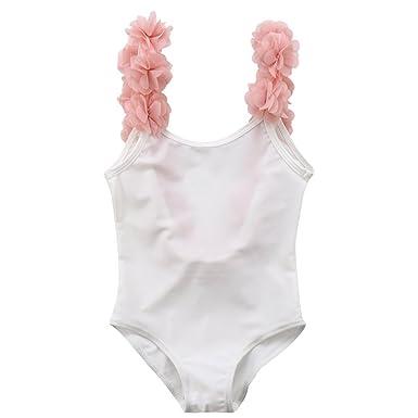 Baby Mädchen Kinder Regenbogen Bikini Badeanzug Bademode Geschenk